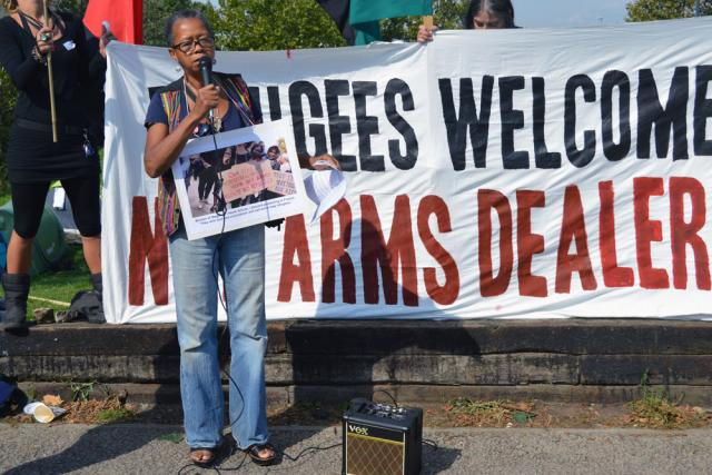 Refugees not arms